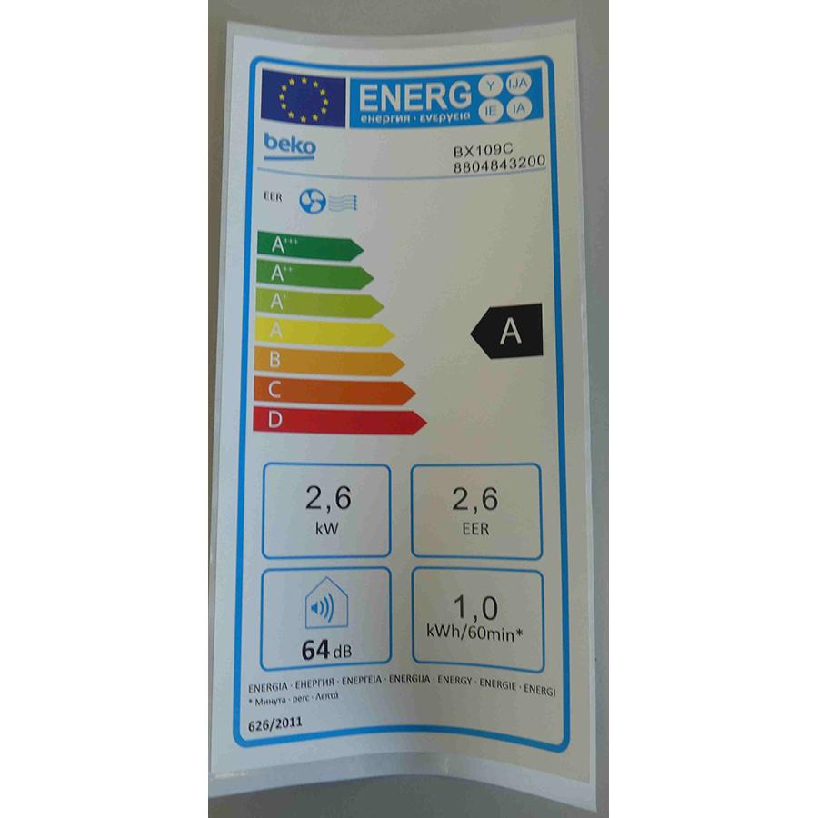 Beko BX109C - Étiquette énergie