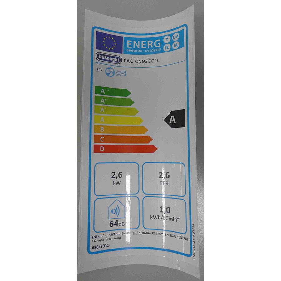 De'Longhi PAC CN93ECO - Étiquette énergie