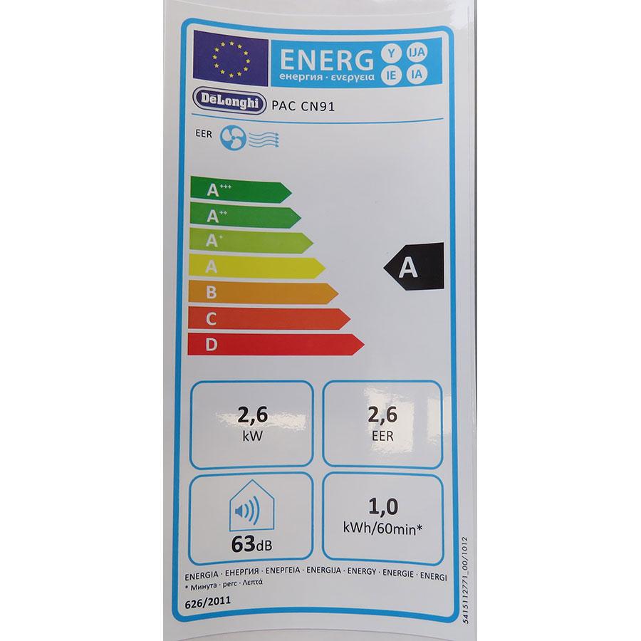 De'Longhi PAC CN91 - Étiquette énergie