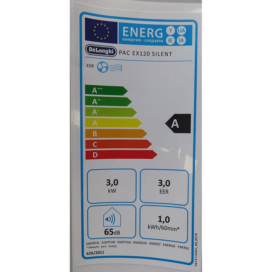 De'Longhi PAC EX120 Silent - Étiquette énergie