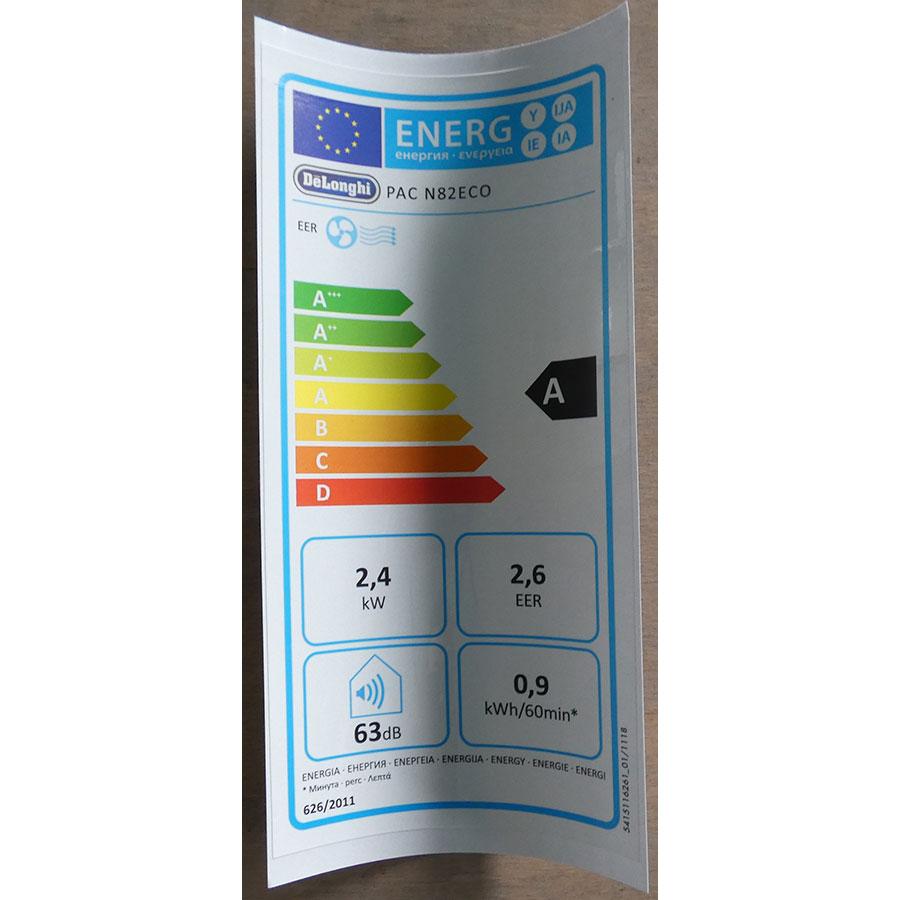 De'Longhi PAC N82 ECO - Étiquette énergie