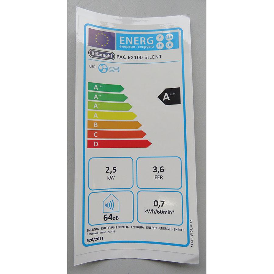 De'Longhi PACEX100 Silent - Étiquette énergie