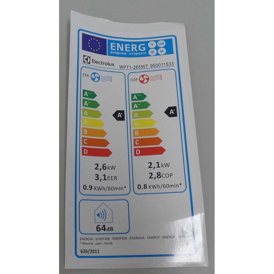 Electrolux WP71-265WT - Étiquette énergie
