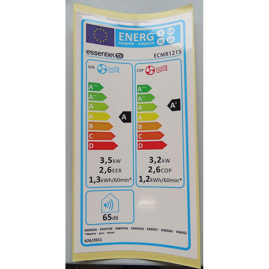 EssentielB ECMR121s - Étiquette énergie