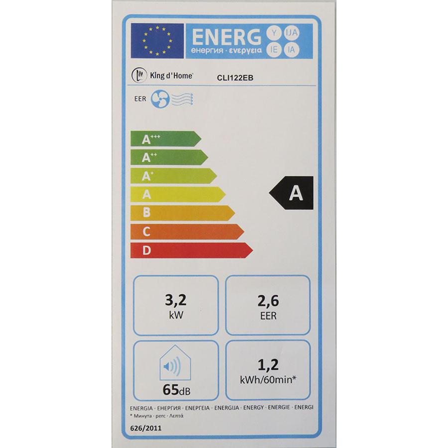 King d'Home CLI122EB - Étiquette énergie