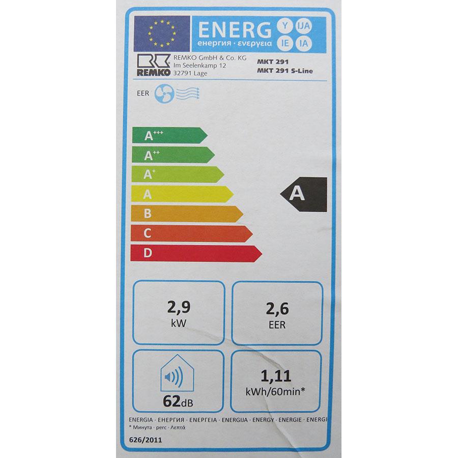 Remko MKT 291 S-Line - Étiquette énergie