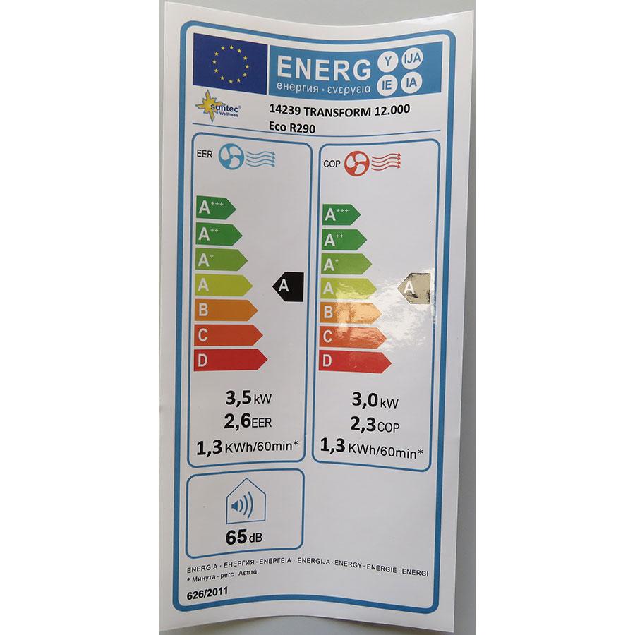 Suntec Transform 12.000 Eco R290 - Étiquette énergie