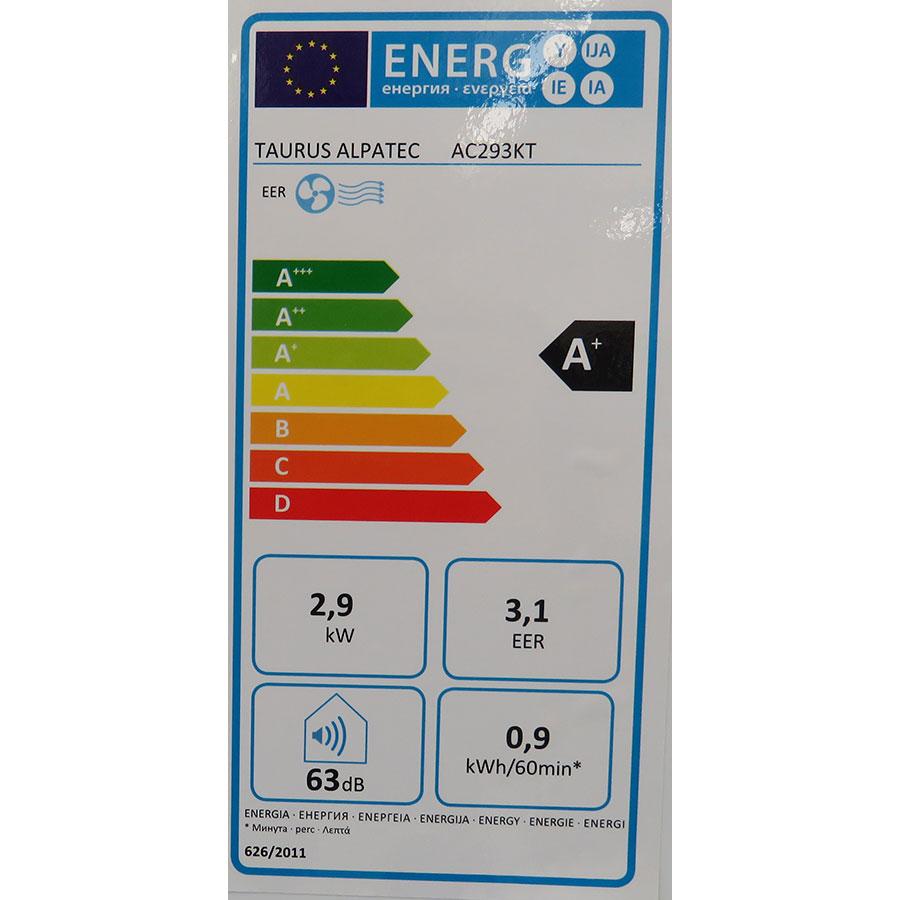 Taurus Alpatec AC 293 KT - Étiquette énergie