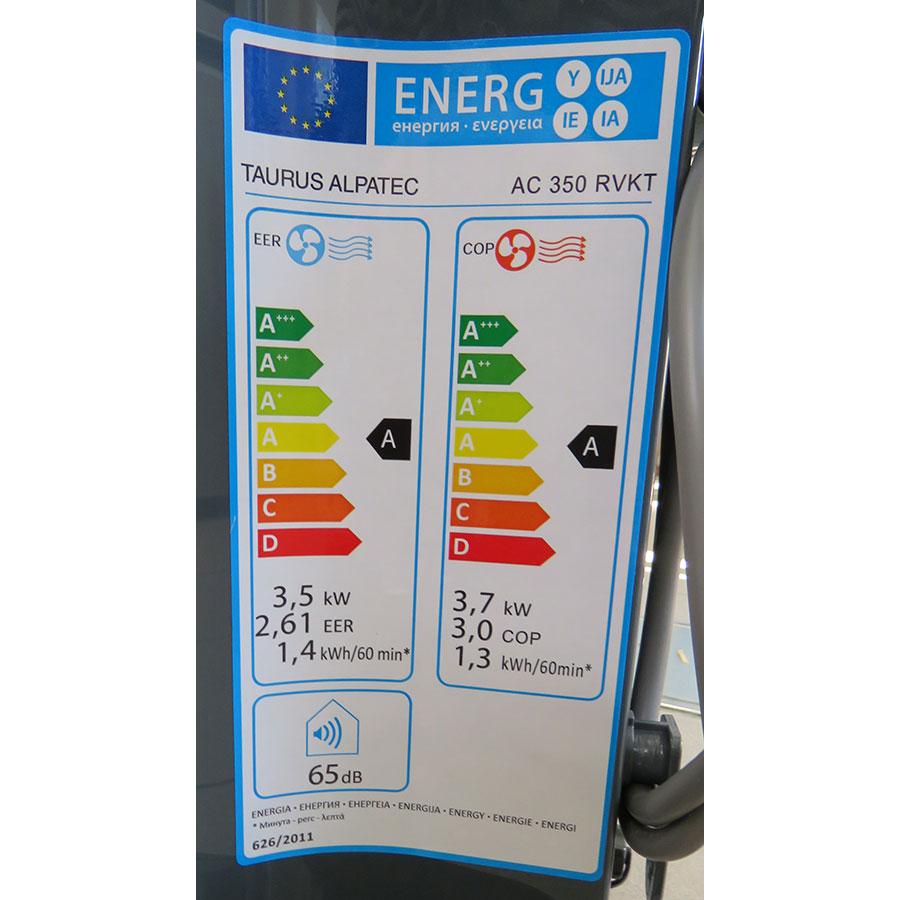 Taurus Alpatec AC 350RVKT - Étiquette énergie