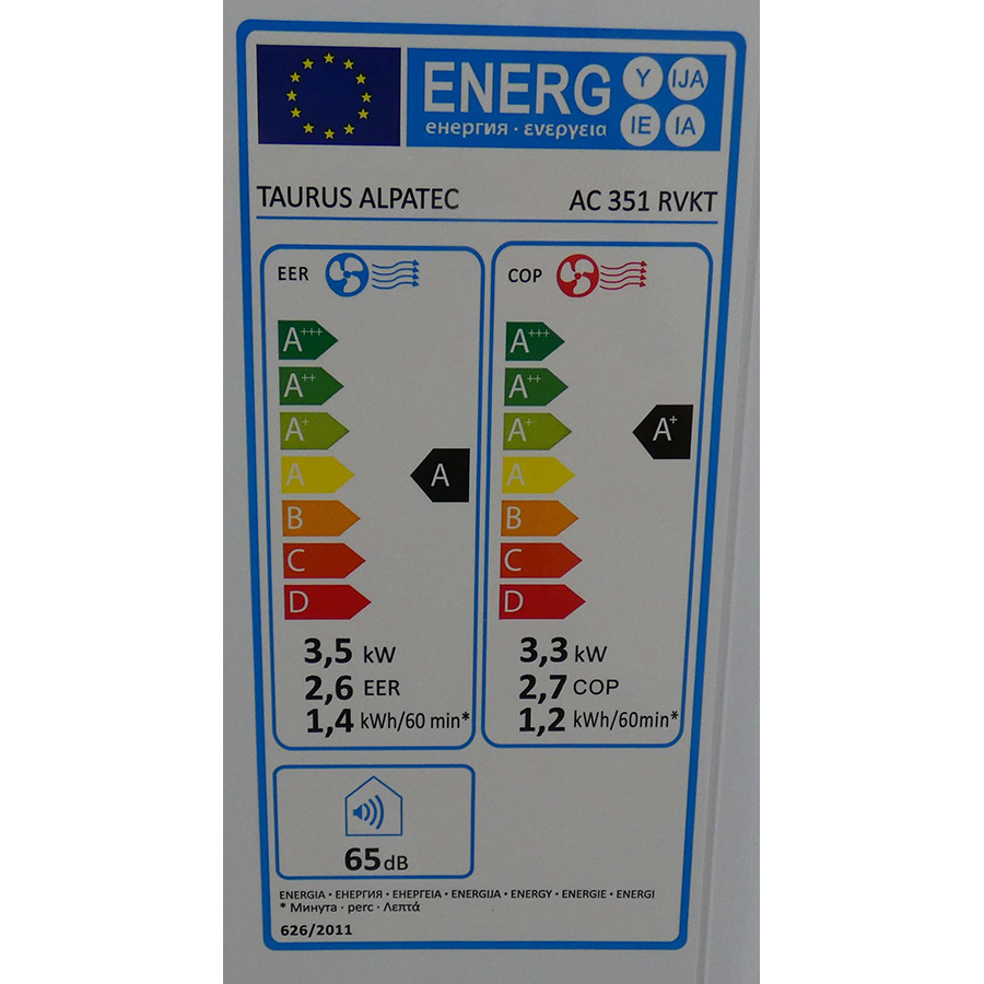 Taurus Alpatec AC 351RVKT - Étiquette énergie