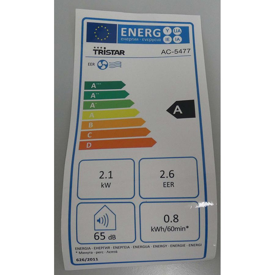 Tristar AC-5477 - Étiquette énergie