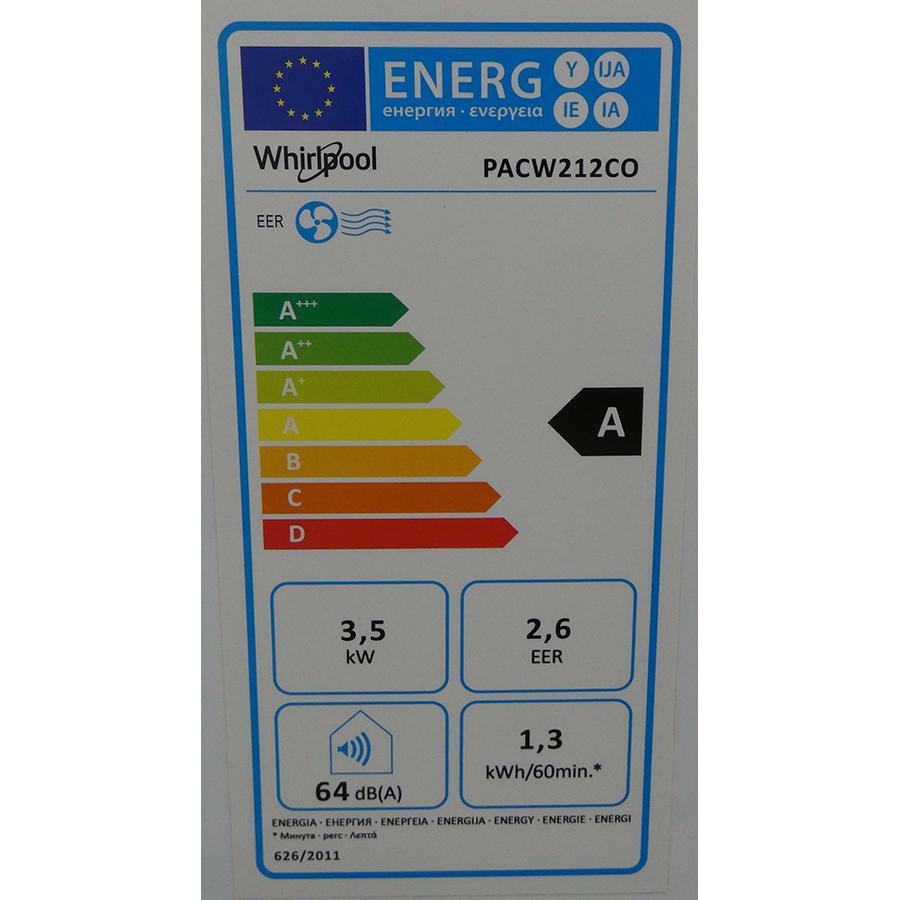 Whirlpool PACW212CO - Étiquette énergie