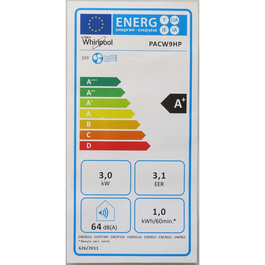 Whirlpool PACW9HP - Étiquette énergie