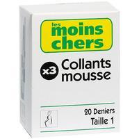 Les moins chers (Auchan) Collants mousse x 3
