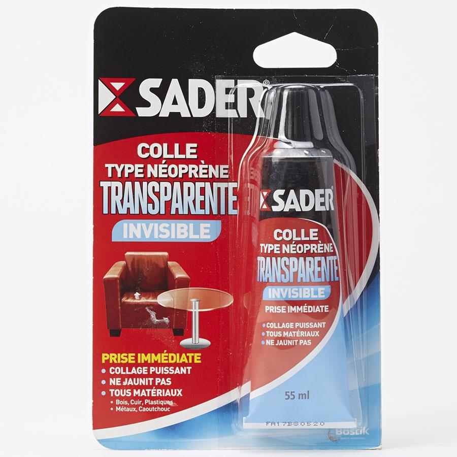 Sader Colle Type Néoprène Transparente Invisible -