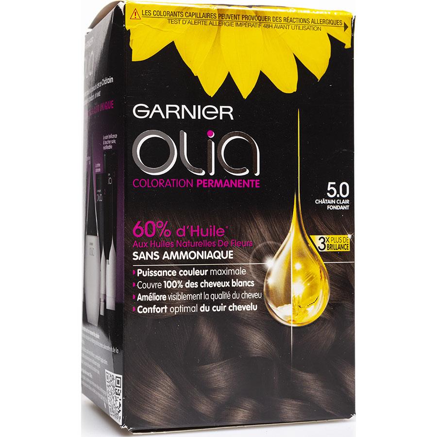 Garnier Olia, sans ammoniaque, 5.0 châtain clair fondant -