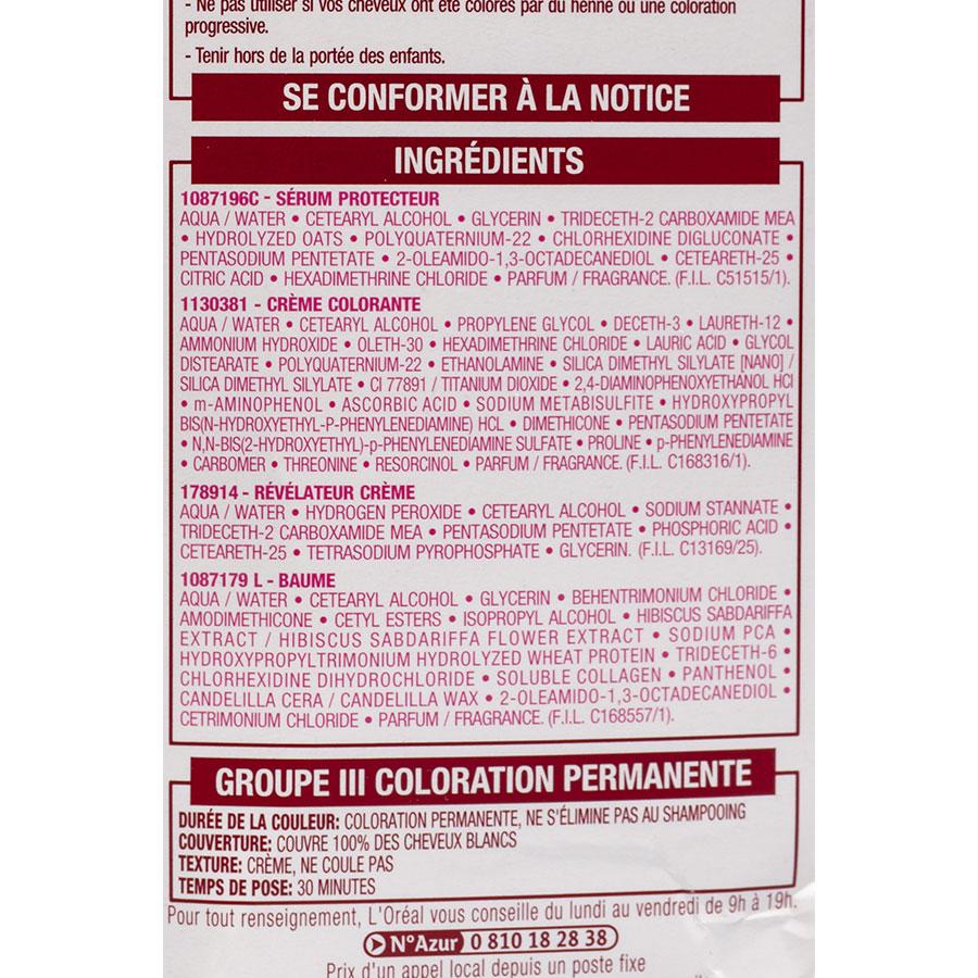 L'Oréal Excellence crème, 5 châtain clair - Composition