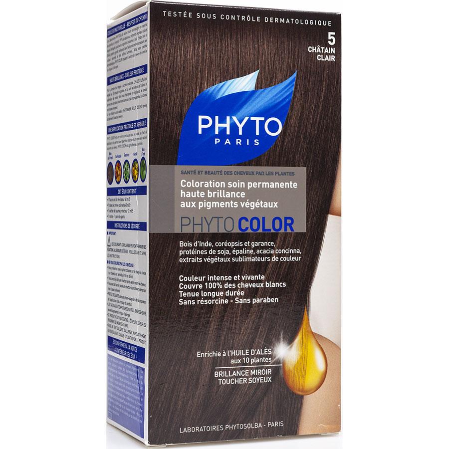 Phyto Phytocolor Coloration permanente pigments végétaux, 5 châtain clair -