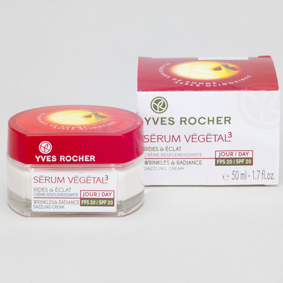 Yves Rocher Sérum végétal3 Rides &éclat crème resplendissante jour, FPS 20 -