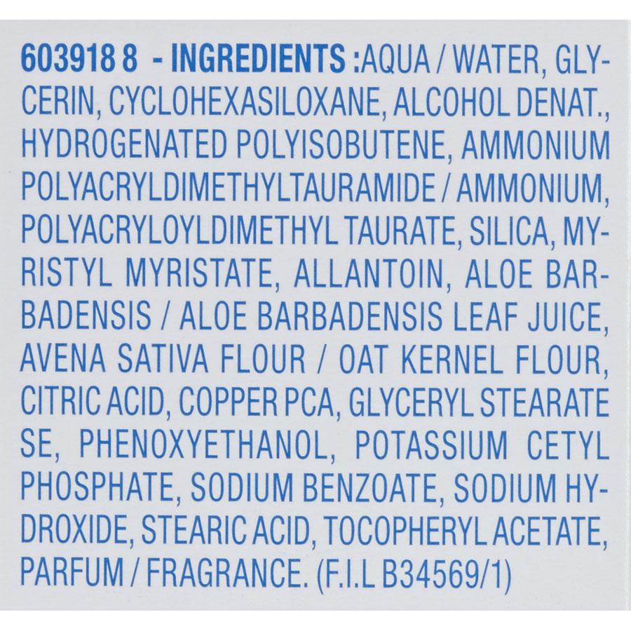 Mixa Soin réhydratant équilibrant - Liste des ingrédients