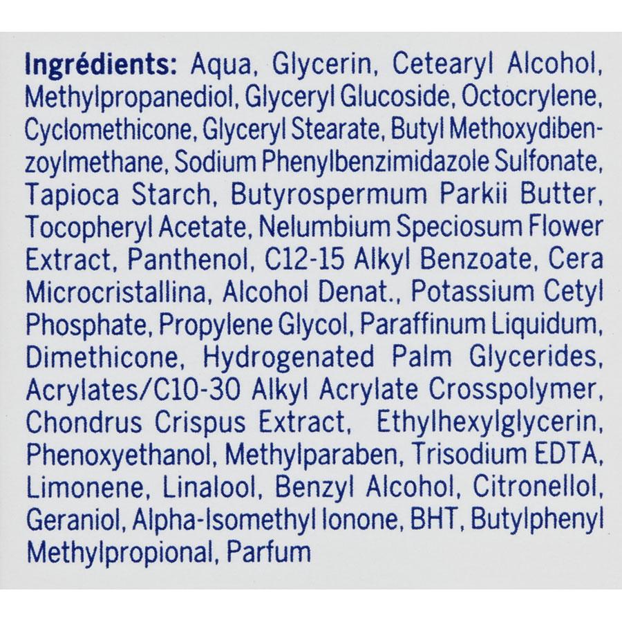 Nivea Soin du jour hydratant fraîcheur FPS 15 - Liste des ingrédients