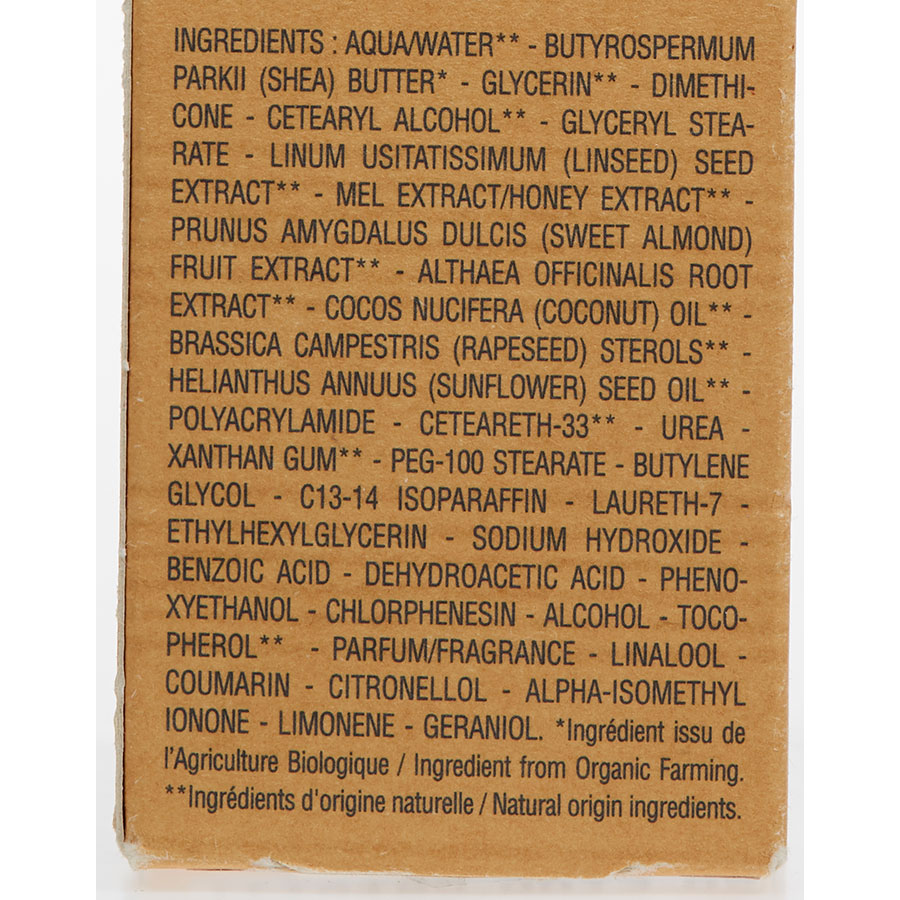 L'Occitane Crème mains peaux sèches beurre de karité 20% - Composition