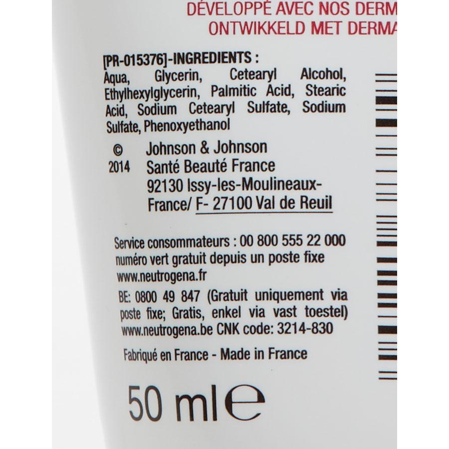 Neutrogena Crème mains apaisante sans parfum - Composition