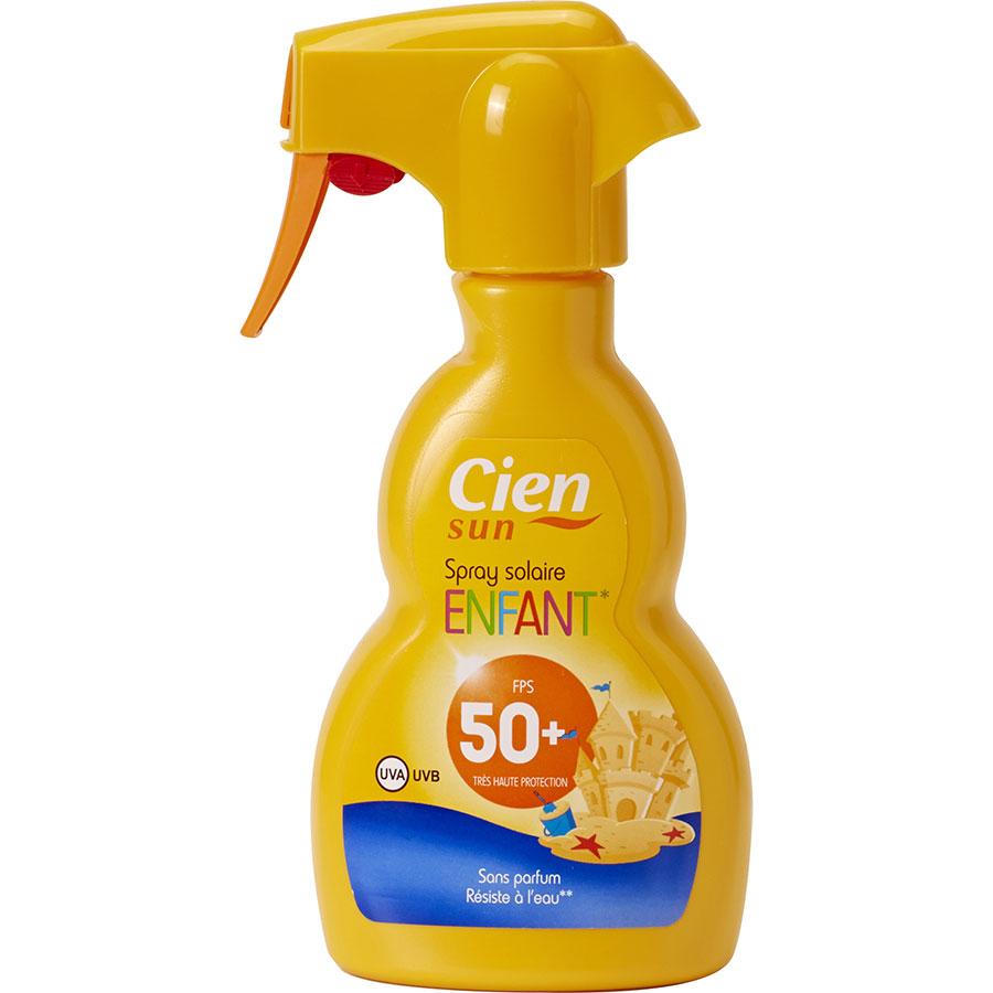 Cien (Lidl) Sun spray solaire enfant 50+ -