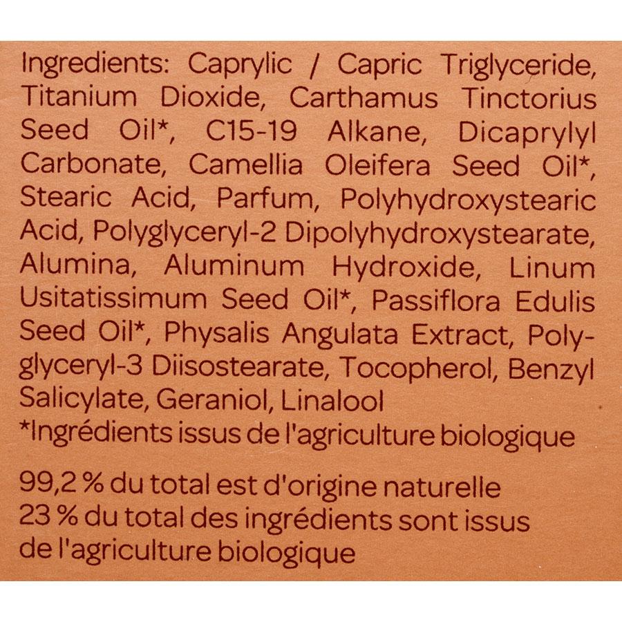 Cattier Spray protection solaire – Indice 30 - Liste des ingrédients