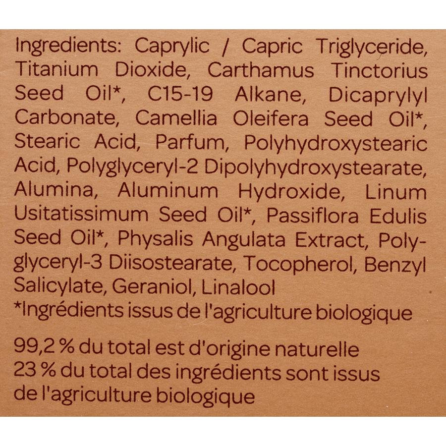 Cattier Spray protection solaire - Liste des ingrédients
