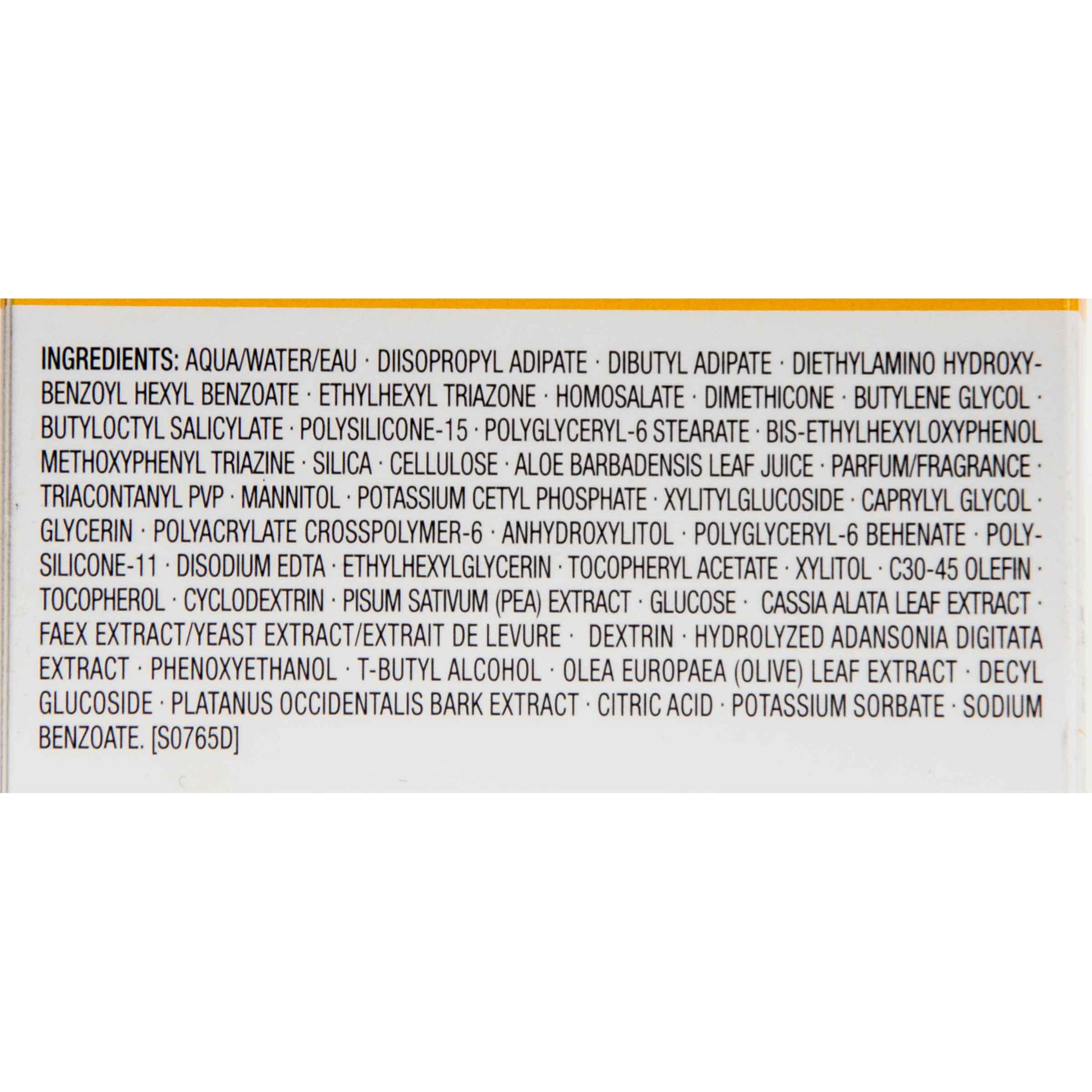 Clarins Crème solaire corps - Liste des ingrédients