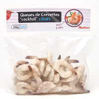 Auchan Queues de crevettes « cocktail » crues