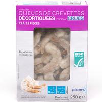 Picard Queues de crevettes décortiquées « cocktail » crues