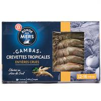 Ronde des mers (Marque repère) Gambas crevettes tropicales crues