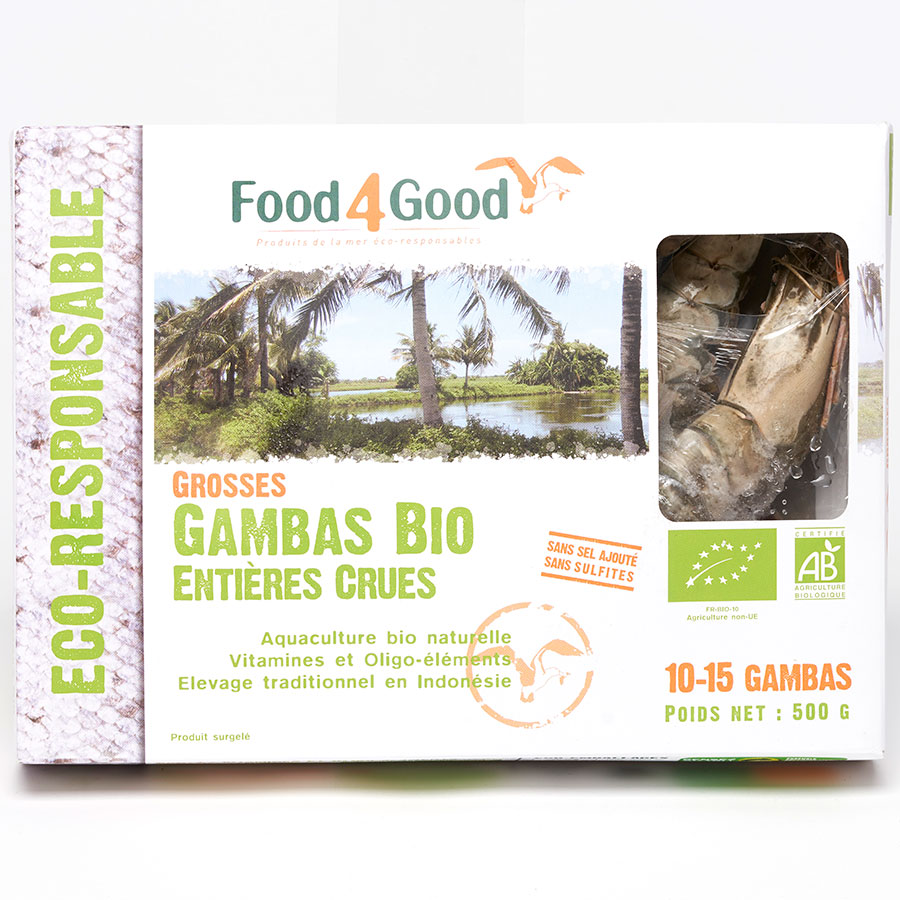 Food4Good Grosses gambas bio crues -