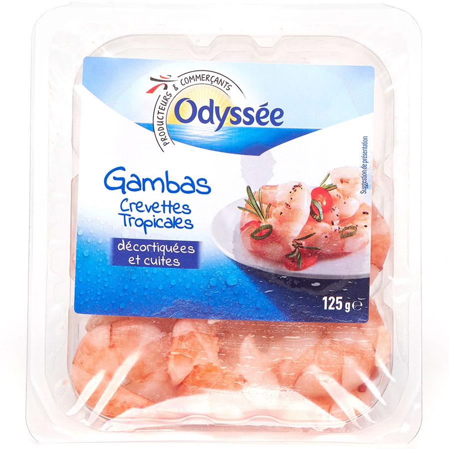 Odyssée (Intermarché) Gambas crevettes tropicales cuites -