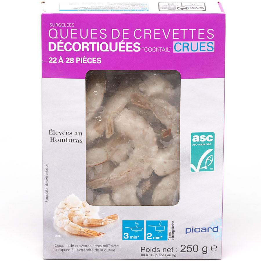 Picard Queues de crevettes décortiquées « cocktail » crues -