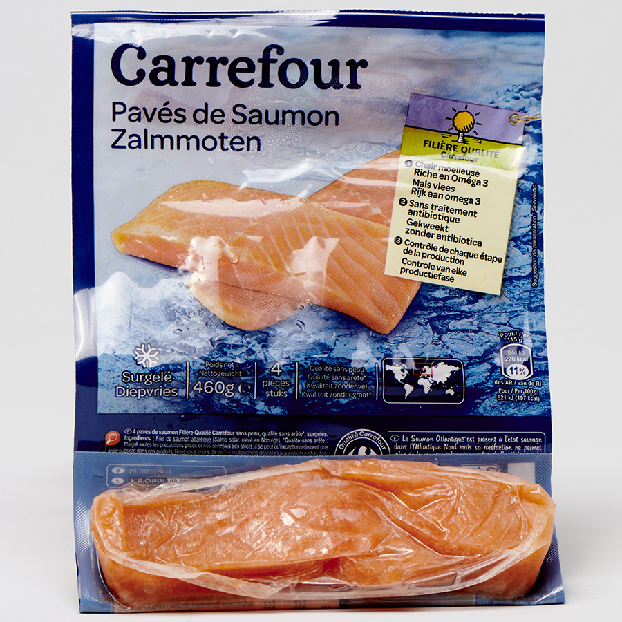 Pavés de saumon Carrefour -