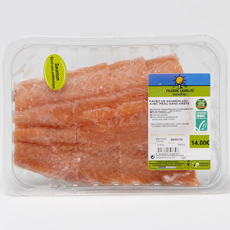 Pavés de saumon Filière Qualité Carrefour -