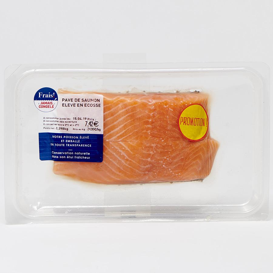 Pavé de saumon élevé en Ecosse GFM -