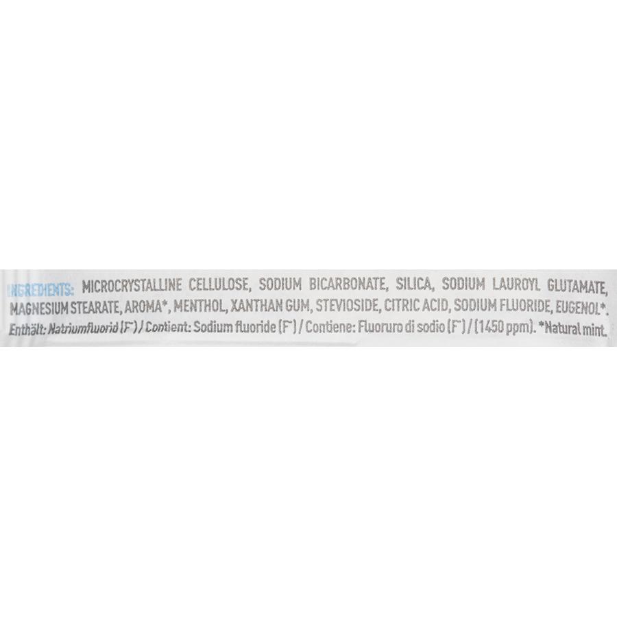Denttabs Mit fluorid 125 tabs - Liste des ingrédients