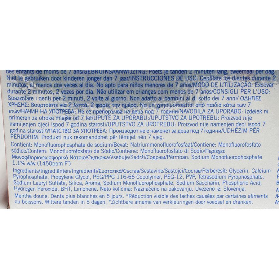 Colgate Max white Expert white cool mint - Liste des ingrédients