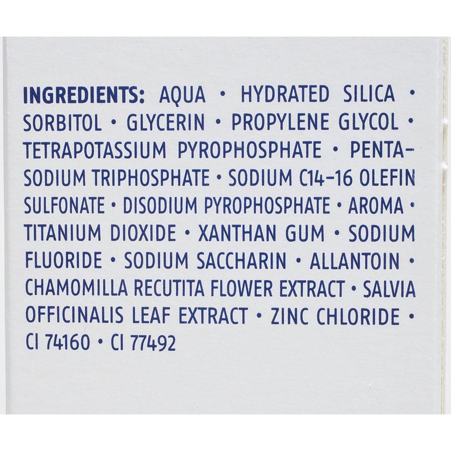 Dentalux (Lidl) Complex 5 action blancheur - Liste des ingrédients