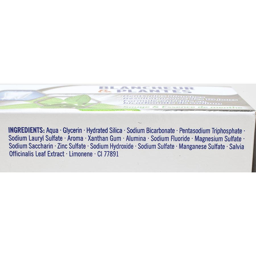 Vademecum Blancheur & plantes - Liste des ingrédients