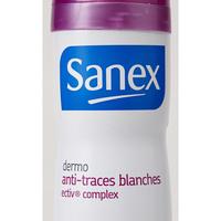 Sanex Dermo anti-traces blanches, spray - Les ingrédients sont affichés en caractères de moins de 1 millimètre. Pourtant, le haut flacon de Sanex offrait l'espace nécessaire pour une meilleure lisibilité !