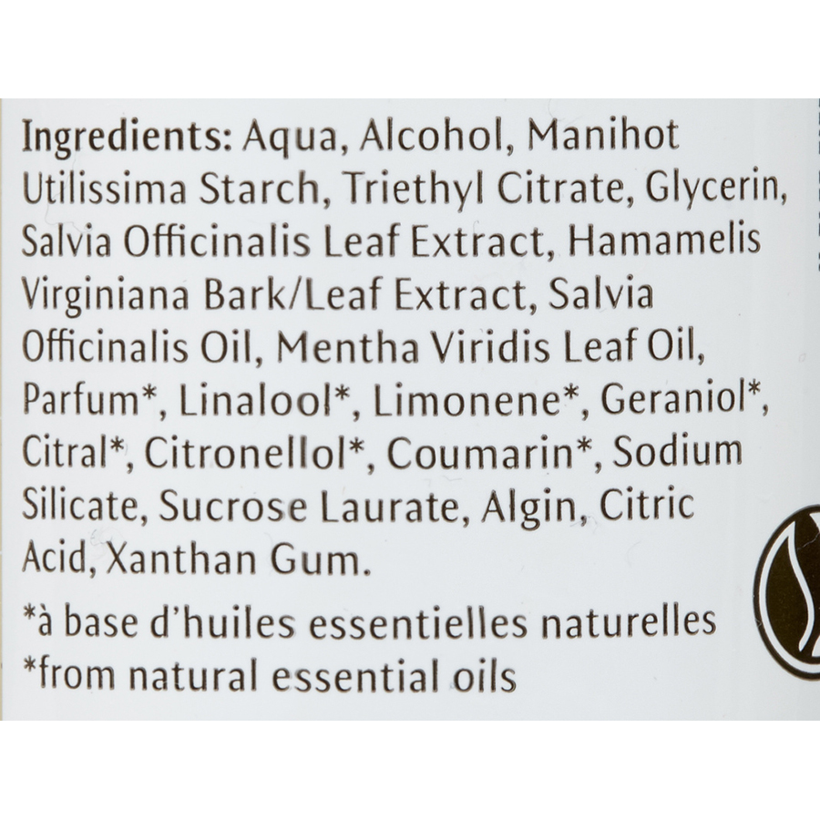 Dr.Hauschka Déodorant sauge menthe - Liste des ingrédients