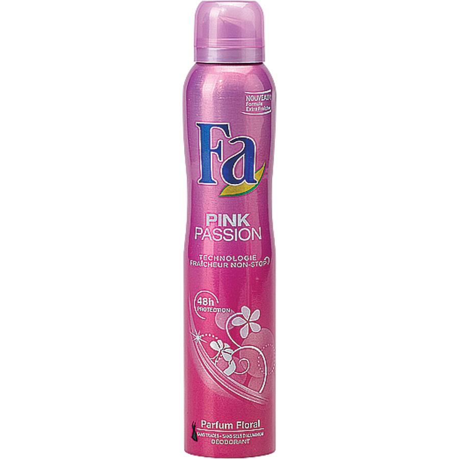 test fa pink passion spray d odorants et antitranspirants pour femmes ufc que choisir. Black Bedroom Furniture Sets. Home Design Ideas
