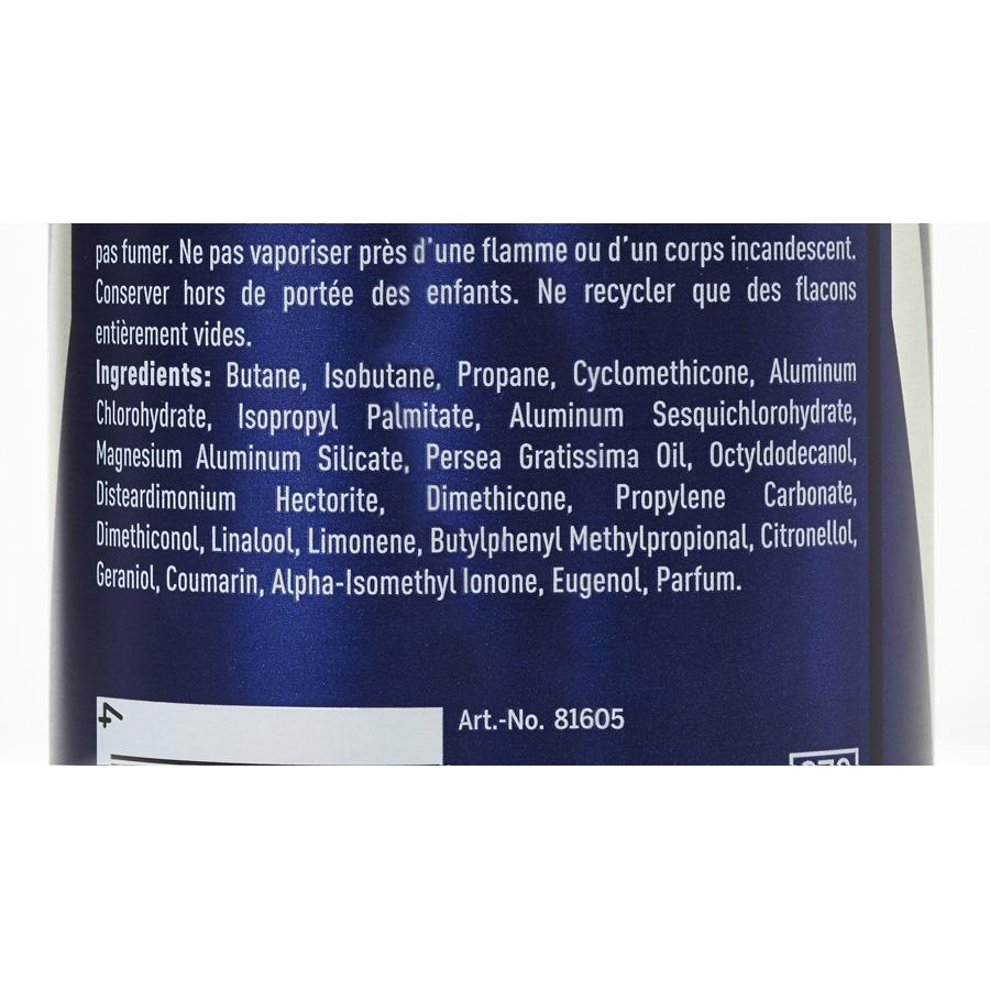 Nivea Men Dry Impact - Liste des ingrédients