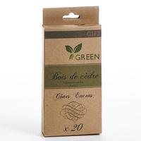Gifi Green Cône d'encens bois de cèdre (20 cônes)