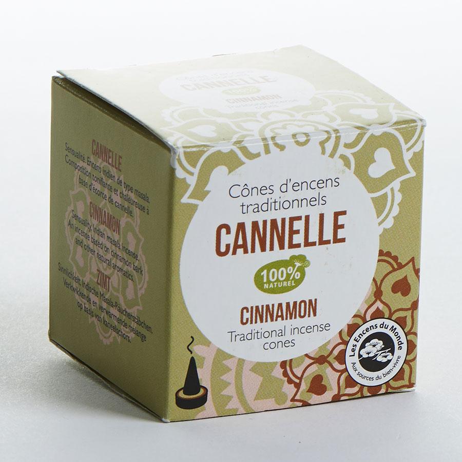 Encens du monde Cône d'encens traditionnels cannelle (12 cônes)(*1*) -